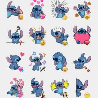 USA Stitch Stickers