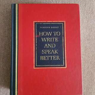 Reader's Digest How to Write ans Speak Better