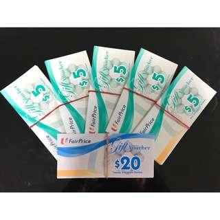 NTUC vouchers $5 denomination