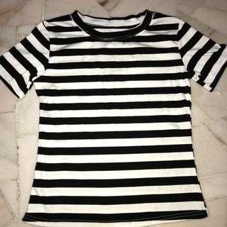 brand new  black & white stripes shirt
