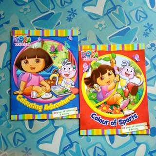(BNEW) Dora Coloring Books