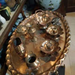 Dulang tembaga dan aneka tembaga antik