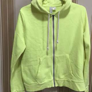hnm neon green jacket