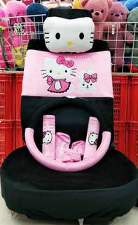 Hello Kitty Car Seat & Accessories (Pink/Black)