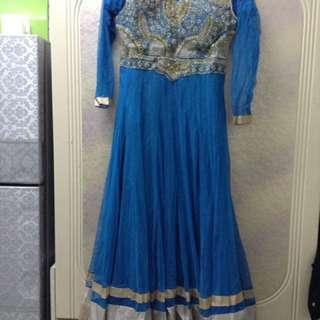 Pakistani blue dress