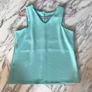 Pastel Green Sleeveless Top