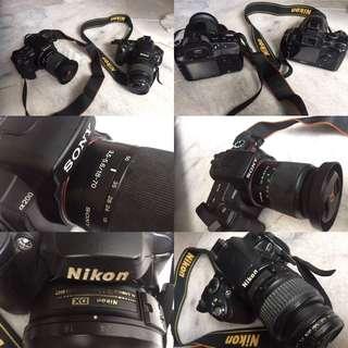 Nikon D40 & Sony A200