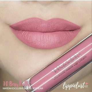 Wardah Exclusive Matte Lip Cream No. 10 Bally Prety