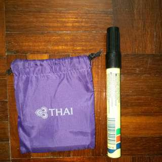 USED Thai Airways Mini Purple Tote Bag Air Ways