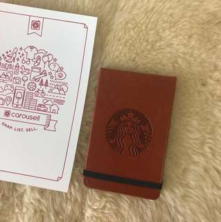 Starbucks Leather Small Notebook