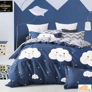 Cotton 3pcs Queen Fitted Bedding Set 450TC  Sweet Dream