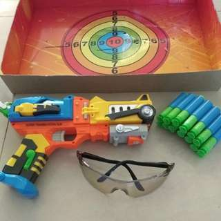 Gun transform robot set