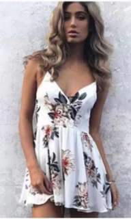Sexy Floral Romper S