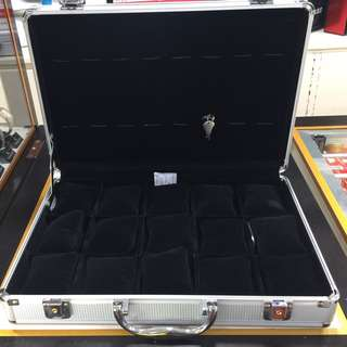 15 slots watch/jewelry attache case organizer