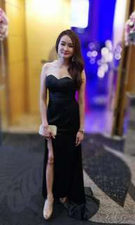 Black evening mermaid gown