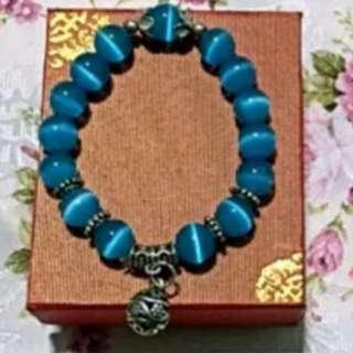 Cat Eye Stone Bracelet Blue colour