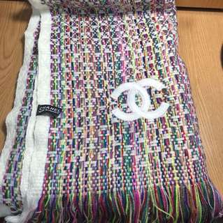 Chanel編織彩色圍巾(全新