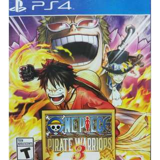 Used Playstation 4 PS4 One Piece Pirate Warriors 3 Region All (NEAREST MRT)