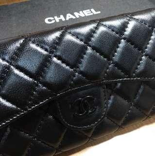 Chanel長夾-真皮-翻玩(全新)