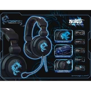 DRAGON WAR G-HS-002  BEAST 5.1 頻道電腦遊戲耳機