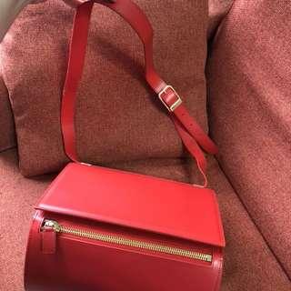 6折清貨 Le Junev UNITA 韓國製造 側揹 橙紅色 手袋