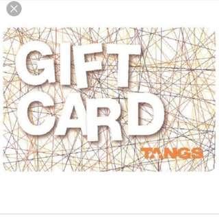 WTT tangs gift card for other shopping vouchers