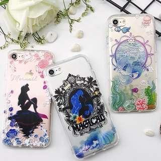 手機殼IPhone6/7/8/plus : 彩色美人魚軟殼