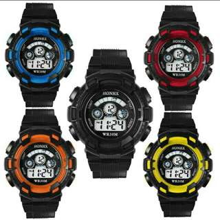 kids sport watch stainless steel