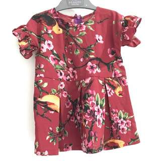 Red Maroon Baby Girl Dress