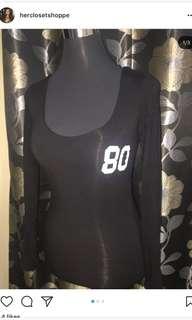 Black longsleeves body fit top