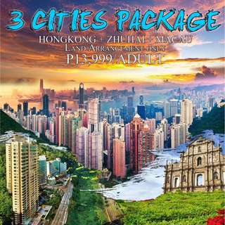 3 CITIES PACKAGE  (HONGKONG + ZHUHAI + MACAU LAND ARRANGEMENT)