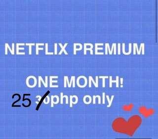 Netflix Premium One Month!!!
