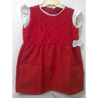 Dress Merah Putih cantik