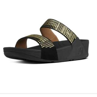 Fitflop Urban black gold 2 strap