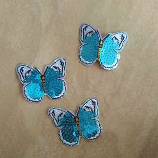 Sew on patch - Butterfly sequins