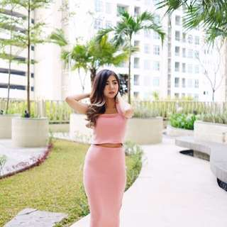 One set dusty pink dress