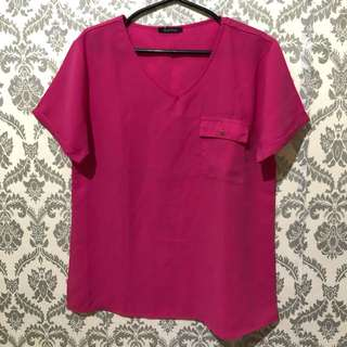 Pink Formal Blouse