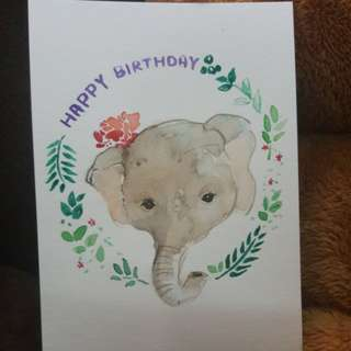 Handmade card birthday card