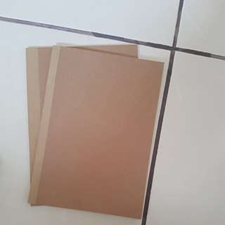 Brown plain notebooks