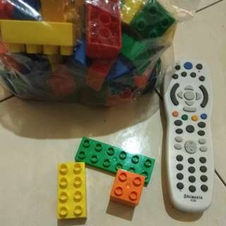 Mega block + lego medium size (53pcs)