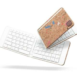 CaseStudi Foldable Bluetooth Keyboard (Corkwork mix design) - Last Piece