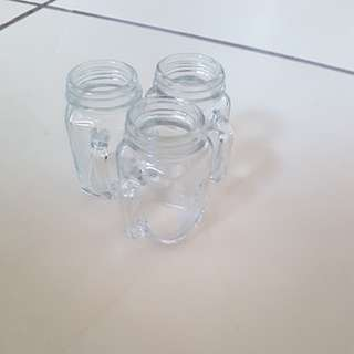 Cute smol glass mason jars