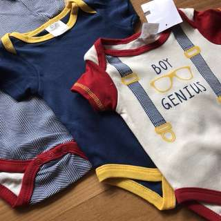 Brand New Boys Baby romper playsuit bodysuit 0-3months $7/pc, $15 for 3