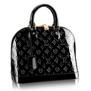 LOUIS VUITTON ALMA PM M94767 Black Monogram Handbag Luxury Bag Made in France