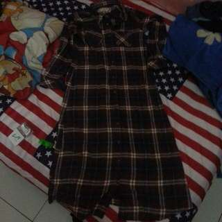 Sale!! Dress kemeja flanel