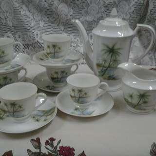 Teapot Set Pokok Kelapa(size kecil)
