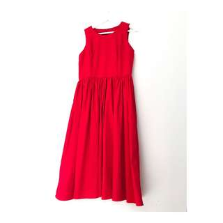 Chlorineclothe midi red dress