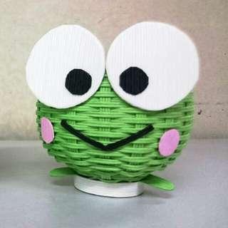 Keroppi 紙籐籃 青蛙 Sanrio 大眼青蛙