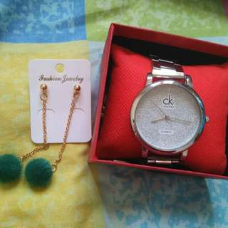 Watch and Earing