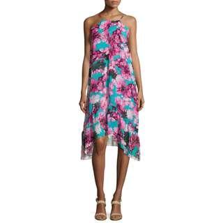 (RENT @ $40) BN Philosophy Republic Clothing Blue Pink Tropicana Floral Dress - Size L